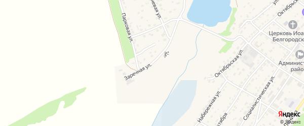 Заречная улица на карте села Топчихи с номерами домов
