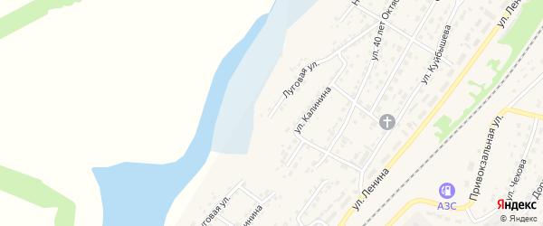 Луговая улица на карте села Топчихи с номерами домов