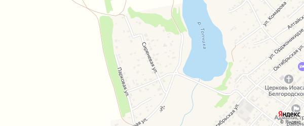 Сиреневая улица на карте села Топчихи с номерами домов