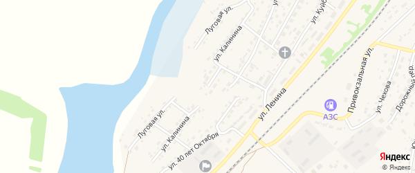 Улица Калинина на карте села Топчихи с номерами домов
