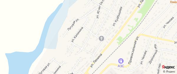 Улица 40 лет Октября на карте села Топчихи с номерами домов