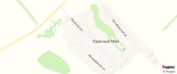Майская улица на карте поселка Красного Мая с номерами домов