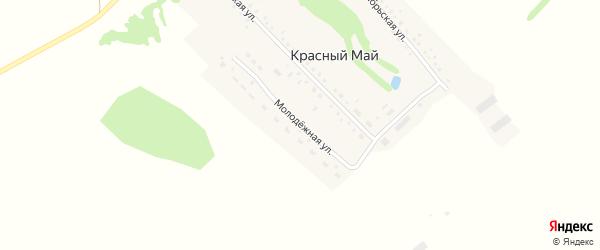 Молодёжная улица на карте поселка Красного Мая с номерами домов