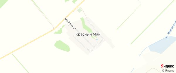 Карта поселка Красного Мая в Алтайском крае с улицами и номерами домов