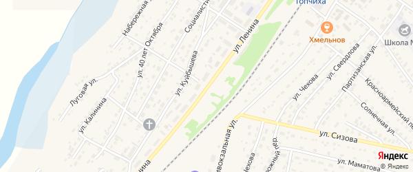 Улица Ленина на карте села Топчихи с номерами домов