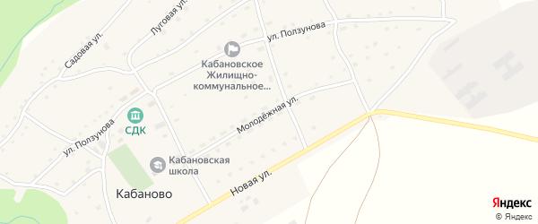 Молодежная улица на карте села Кабаново с номерами домов