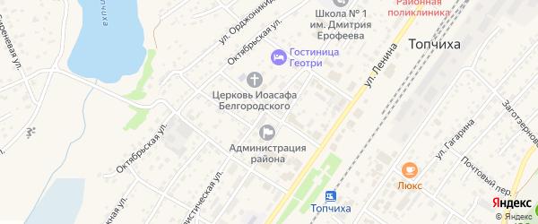 Переулок М.Горького на карте села Топчихи с номерами домов
