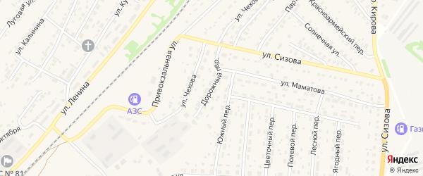 Дорожный переулок на карте села Топчихи с номерами домов