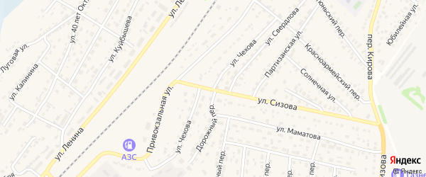 Улица Чехова на карте села Топчихи с номерами домов