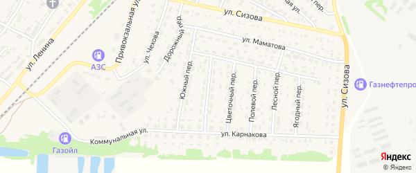 Улица Автомобилистов на карте села Топчихи с номерами домов