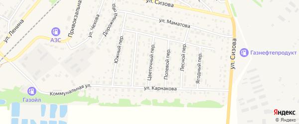 Цветочный переулок на карте села Топчихи с номерами домов