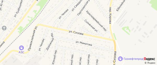 Улица Сизова на карте села Топчихи с номерами домов