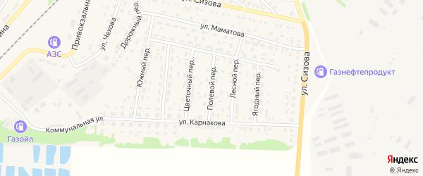 Полевой переулок на карте села Топчихи с номерами домов