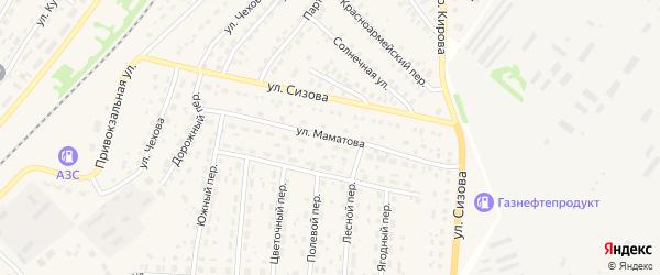 Улица Маматова на карте села Топчихи с номерами домов
