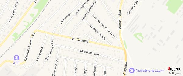 Песочная улица на карте села Топчихи с номерами домов