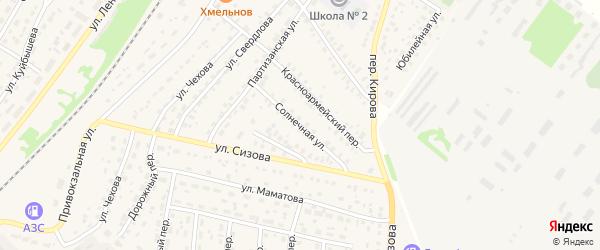 Солнечная улица на карте села Топчихи с номерами домов