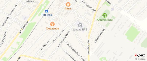 Чистюньский переулок на карте села Топчихи с номерами домов