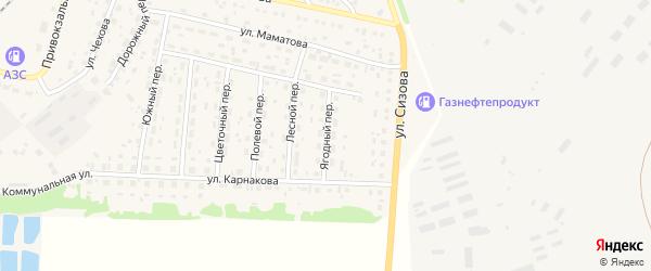 Ягодный переулок на карте села Топчихи с номерами домов