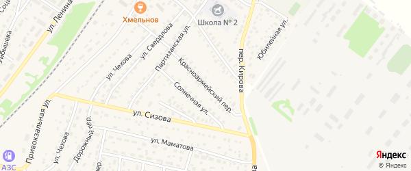 Красноармейский переулок на карте села Топчихи с номерами домов