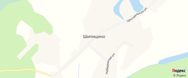 Советская улица на карте села Шипицино с номерами домов