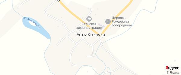 Береговая улица на карте села Усть-Козлухи с номерами домов
