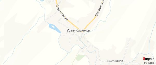 Карта села Усть-Козлухи в Алтайском крае с улицами и номерами домов