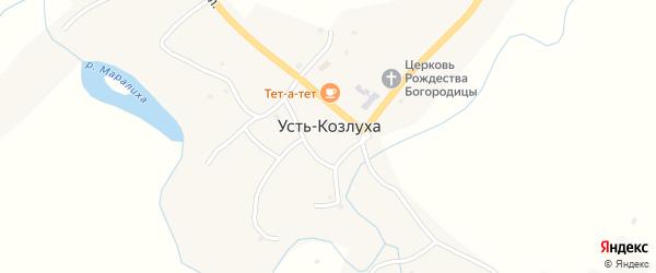 Советская улица на карте села Усть-Козлухи с номерами домов
