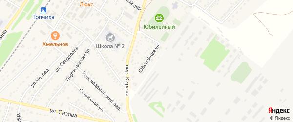 Юбилейная улица на карте села Топчихи с номерами домов