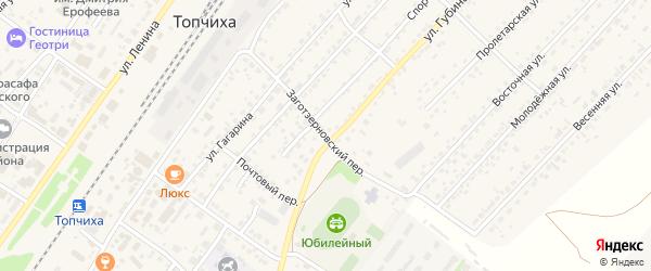 Заготзерновский переулок на карте села Топчихи с номерами домов