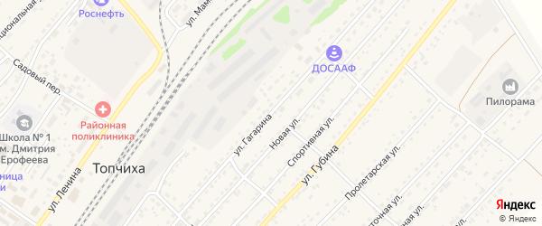 Улица Гагарина на карте села Топчихи с номерами домов