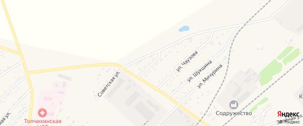 Северная улица на карте села Топчихи с номерами домов