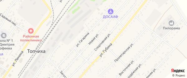 Новая улица на карте села Топчихи с номерами домов