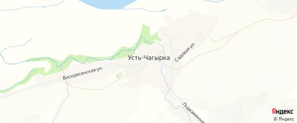 Карта села Усть-Чагырки в Алтайском крае с улицами и номерами домов