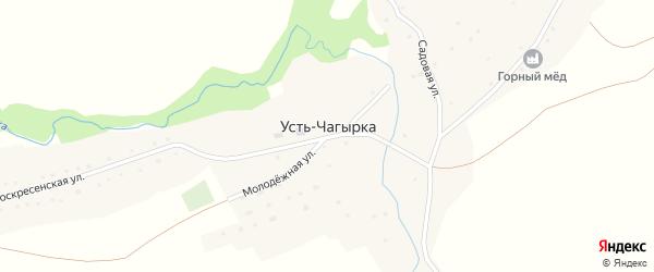 Садовая улица на карте села Усть-Чагырки с номерами домов