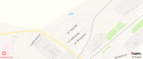 Улица Чаузова на карте села Топчихи с номерами домов