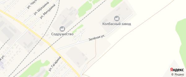 Зеленая улица на карте села Топчихи с номерами домов