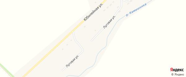 Луговая улица на карте села Верха-Камышенки с номерами домов