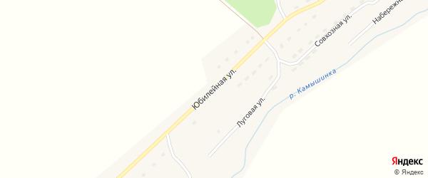 Юбилейная улица на карте села Верха-Камышенки с номерами домов