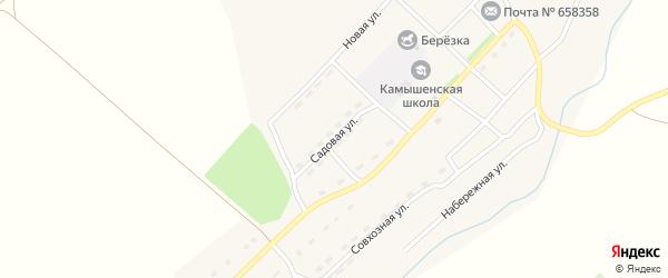 Садовая улица на карте села Верха-Камышенки с номерами домов