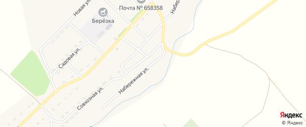 Набережная улица на карте села Верха-Камышенки с номерами домов
