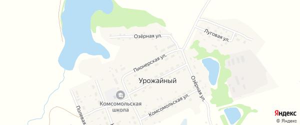 Пионерская улица на карте Урожайного поселка с номерами домов