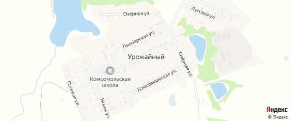 Полевая улица на карте Урожайного поселка с номерами домов