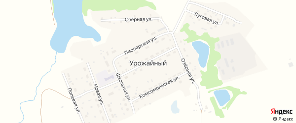 Целинная улица на карте Урожайного поселка с номерами домов