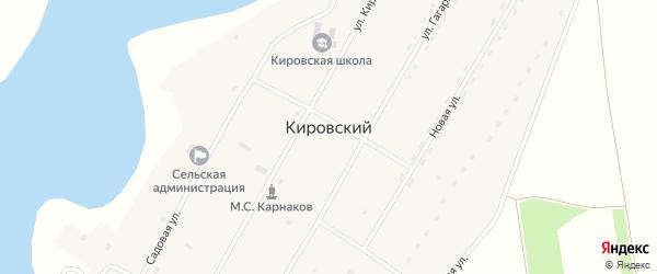 Садовый переулок на карте Кировского поселка с номерами домов