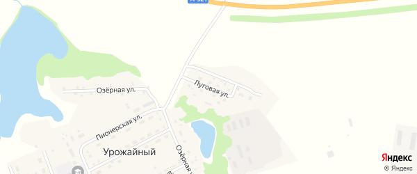 Луговая улица на карте Урожайного поселка с номерами домов
