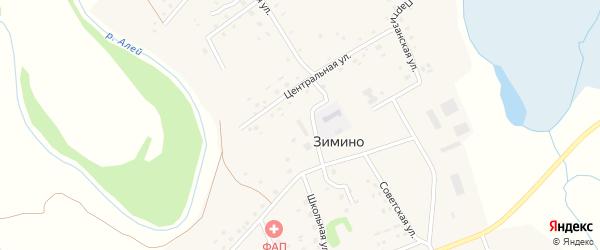 2-й Красноярский переулок на карте села Зимино с номерами домов