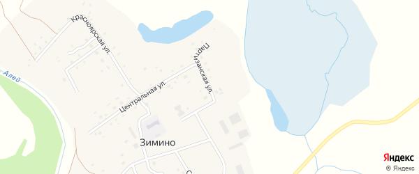 Партизанская улица на карте села Зимино с номерами домов