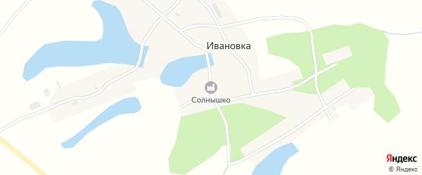 Зеркальная улица на карте села Ивановки с номерами домов