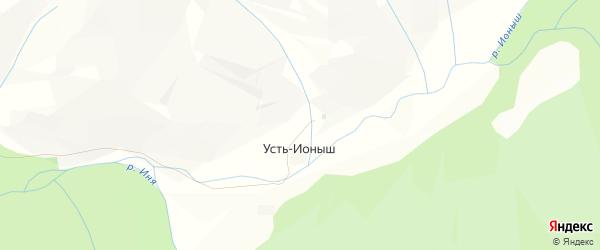 Карта села Усть-Ионыша в Алтайском крае с улицами и номерами домов