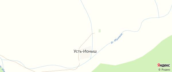 Центральная улица на карте села Усть-Ионыша с номерами домов